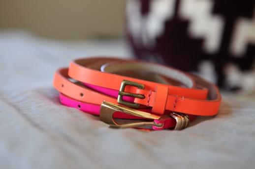 neon belts, neon, belts, touch of neon